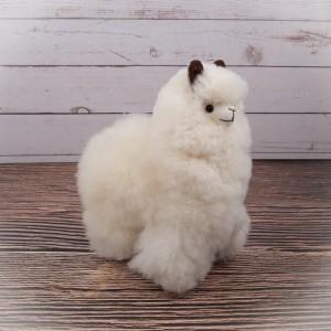 Alpaka-Plüsch, klein, weiss