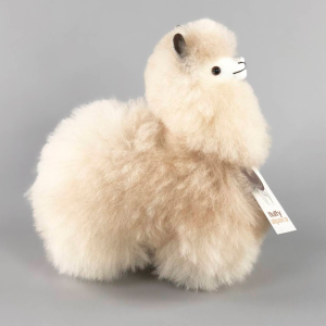 Alpaka-Plüsch, klein, beige